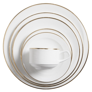 Spirale Dish with Gold Band