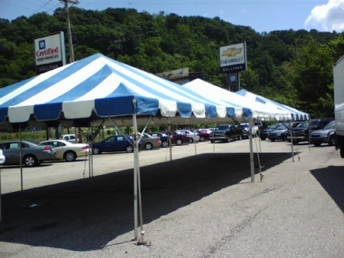 20' x 20' Frame Tent Blue and White