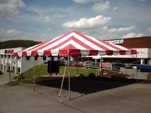 20' x 20' Frame Tent Red and White