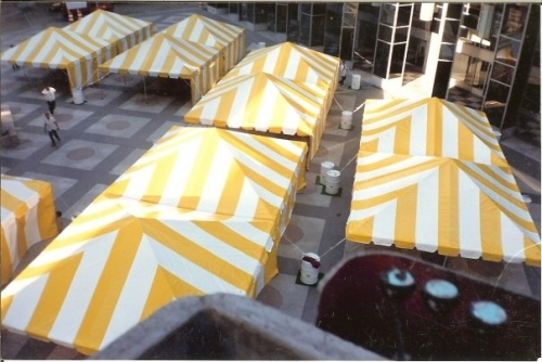20' x 20' Frame Tent Yellow and White