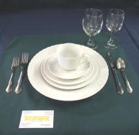 Fine White Dinnerware Settings