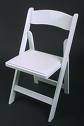 White Wedding Classic Wood Chairs