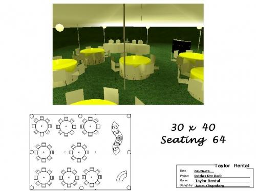 30' x 40' Seating 64