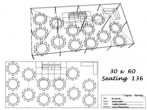 30' x 60' Seating 136
