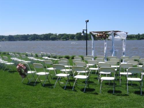 White Chairs on Lake Macatawa