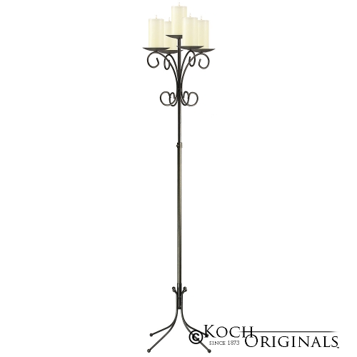Candelabra, Wrought Iron Tree, 5 Light