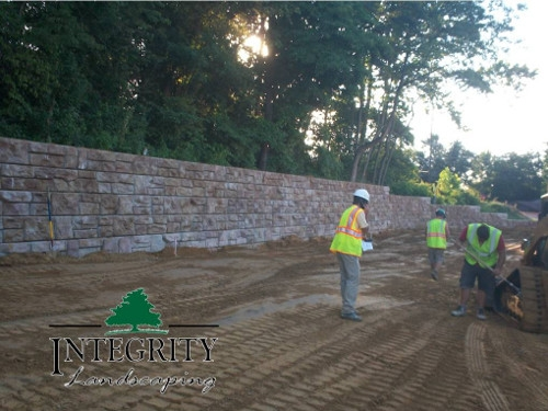 Commercial Retaining Wall for New Business