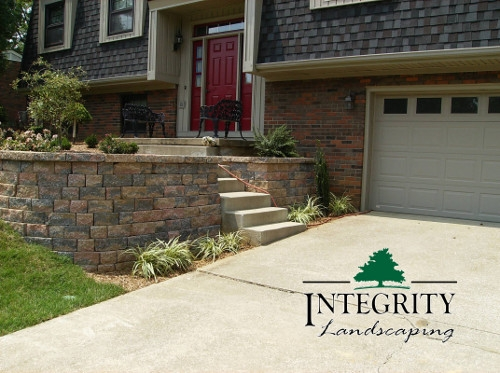 Retaining Wall for Front Entry