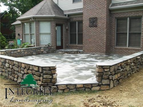 Cut Natural Stone Patio