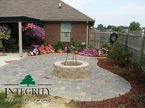 Patio with Firepit Ring
