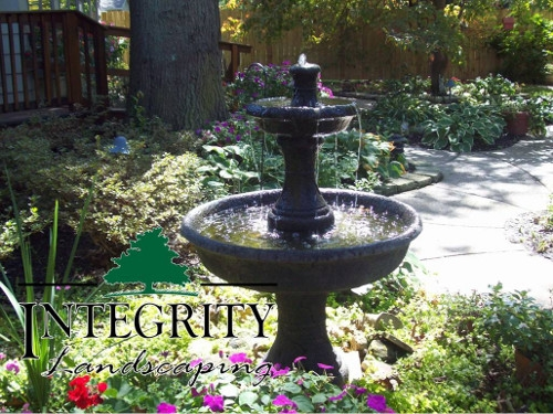 A Relaxing Cast Stone Fountain