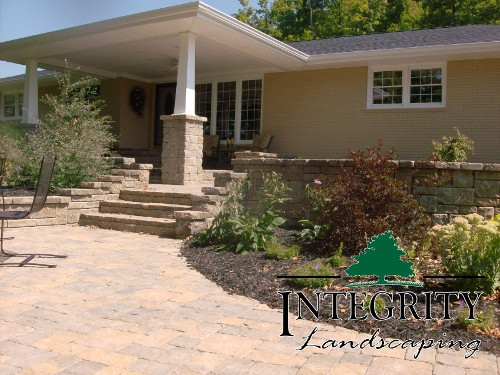 Coordinating Steps, Wall & Patio