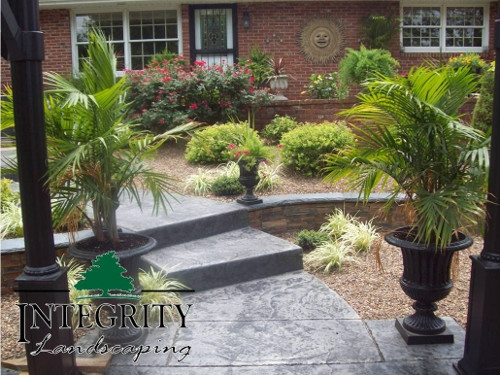 Stamped & Stained Concrete Steps
