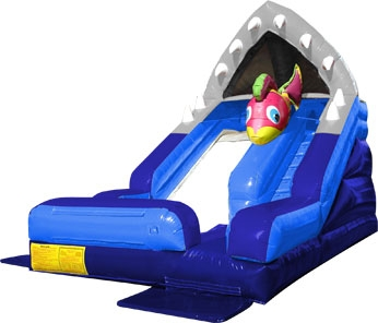 Inflatable Shark Escape Wet/Dry Slide