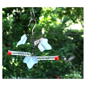 Songbird Essentials Copper Ivy 3-Tube Hummingbird Feeder