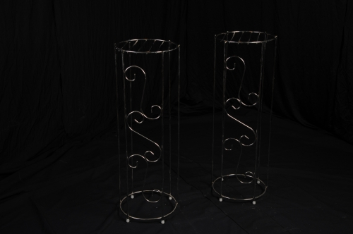 Plant Stand, Silver (pair)