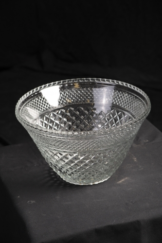 Punch Bowl, Crystal Cut, Large
