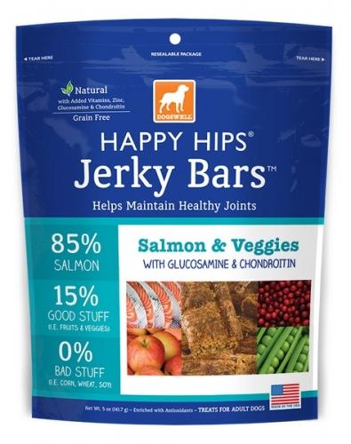 Dogswell Happy Hips Salmon & Veggie Jerky Bars
