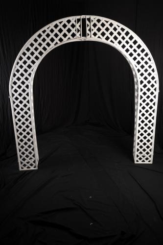 Lattice Arch, White