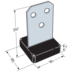 Simpson Strong-Tie 4x4 Concealed Post Base
