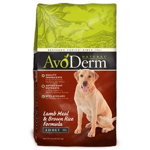 AvoDerm® Adult Lamb Meal & Brown Rice Formula