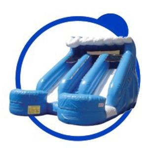 Spacewalk Double Splash Water Slide